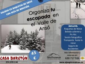 Actividades Ojos Pirenaicos Baretón-Raquetas de Nieve