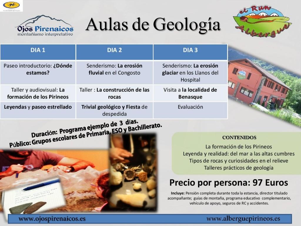 Aulas de Geología El Run-Ojos Pirenaicos