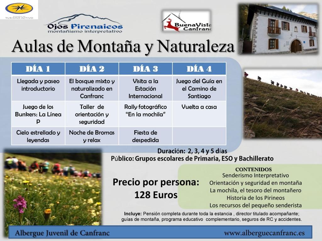 Aulas de Naturaleza y de Montaña-Albergue DGA Canfranc