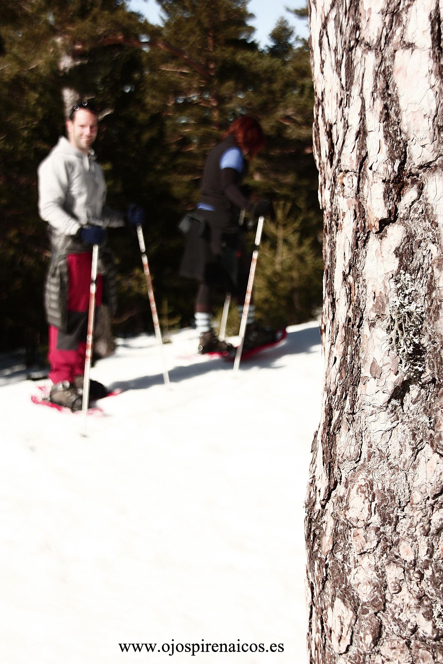 Sonrisas y raquetas de nieve