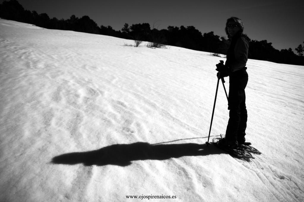 Ascendiendo en raquetas de nieve