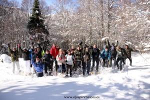 Pirineo y  raquetas de nieve
