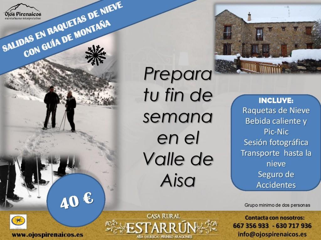 Raquetas Nieve Casa Estarrún Valle de Aisa