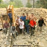 El equipo feliz por el duro trabajo